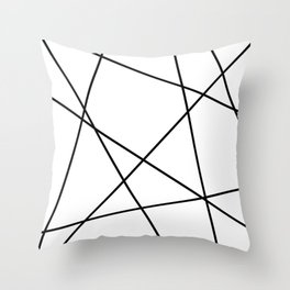 Lines in Chaos II - White Throw Pillow
