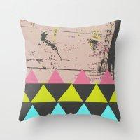 graffiti Throw Pillows featuring Graffiti by Bunhugger Design
