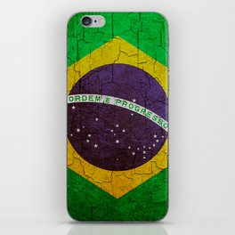 Cracked Brazil flag iPhone Skin