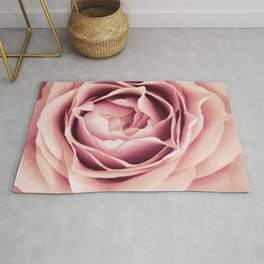 My Heart is Safe with You, My Friend - pale pink rose macro Rug