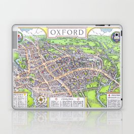 OXFORD university map ENGLAND dorm decor Laptop & iPad Skin