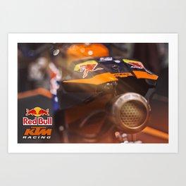 KTM Racing motorbike Art Print