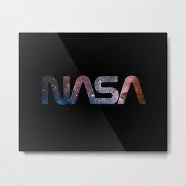 NASA font Metal Print
