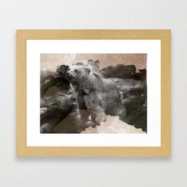 Brown Bear Creek Framed Art Print
