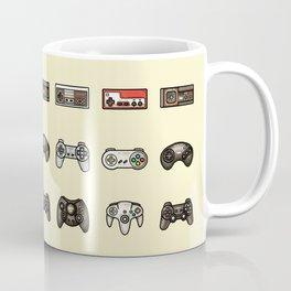 Retro Game Controllers Cream Coffee Mug