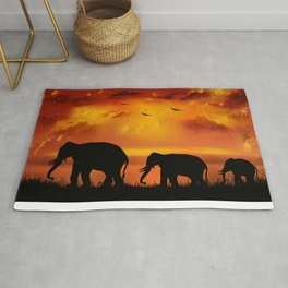 Elephant Safari Rug