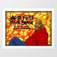acid Art Prints featuring Acid by Skinny Gaviar