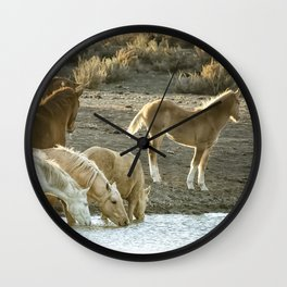 Quenching Their Thirst Wall Clock