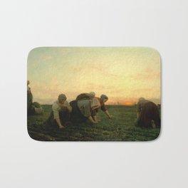 Jules Breton - The Weeders Bath Mat