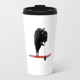 Purple Python - Mixed media painting Travel Mug