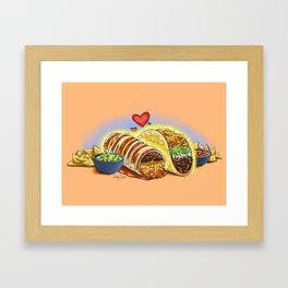 Tacos and Burritos Framed Art Print