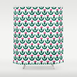 Thistle field Shower Curtain