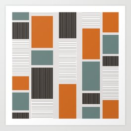 Mid Century Modern Panels Art Print