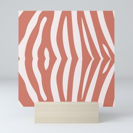 Zebra living coral pattern Mini Art Print