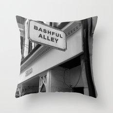 Bashful Alley Throw Pillow