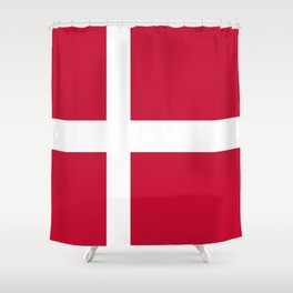 The flag of danmark Shower Curtain