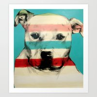 rocky Art Prints featuring Rocky by Carly Casey