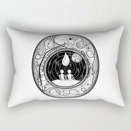 nighttime nowhere to go Rectangular Pillow