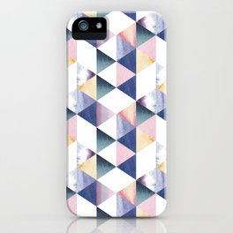 Watercolor geometric pastel colored seamless pattern iPhone Case