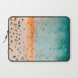 Large Aerial Beach Print, Printable Beach Art, Beach Wave Art, Aerial Beach Photography, Coastal Art, Ocean Print, Modern Art Laptop Sleeve