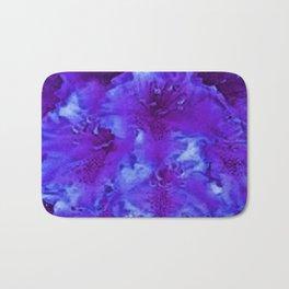 Vivid Amethyst Purple Garden Flowers  Art Bath Mat