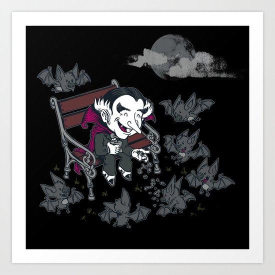 feed the bats Art Print
