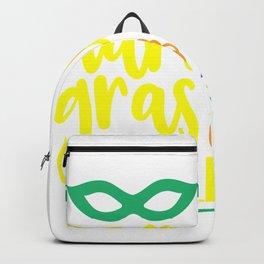 Mardi Gras Yall shirt Backpack