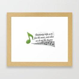Face the Music Framed Art Print