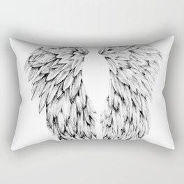 Black and White Angel Wings Rectangular Pillow