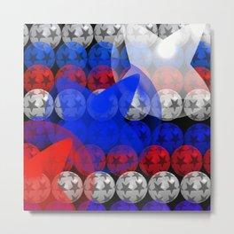 4th of July Fancy Ball Christmas Ornament Art / GFTFancyBall040 Metal Print