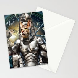 Robot Space Cat Stationery Cards