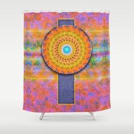 CD Fractal Mandala Shower Curtain