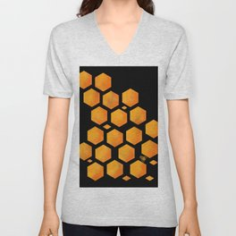 Bee in a Honeycomb Unisex V-Neck