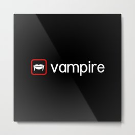 Vampire (Blood Red) Metal Print