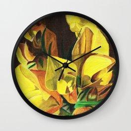 Golden Gorse Flowers Wall Clock