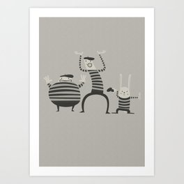 The mime is now Art Print