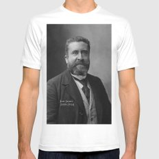 Portrait of Jean Jaurès By Nadar White MEDIUM Mens Fitted Tee