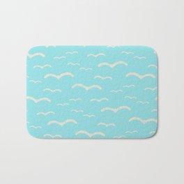 Beach Series Aqua - Sea Gulls Birds in the blue Sky Bath Mat