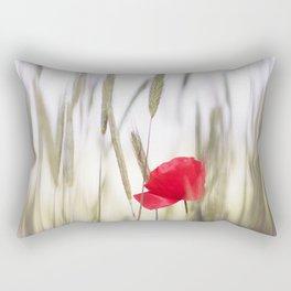 Poppy Abstract Rectangular Pillow