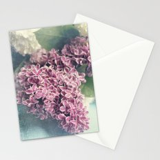 lilacs on blue Stationery Cards