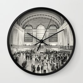 Grand Central Terminal monochrome Wall Clock