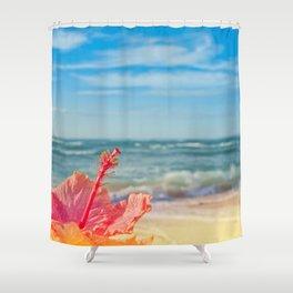 peace love and aloha Shower Curtain