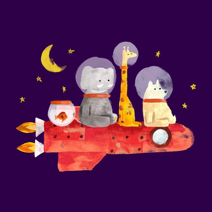 Let's All Go To Mars Duvet Cover