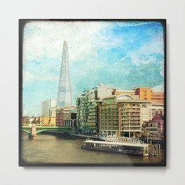 The Shard and The Thames - London Metal Print