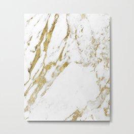 Gold vein marble Metal Print