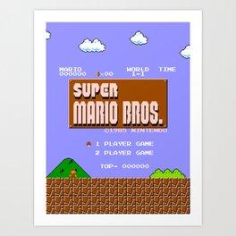 Super Mario Bros Art Prints | Society6