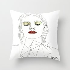 Red Lipstick Throw Pillow