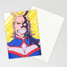 Smiling All Might Stationery Cards