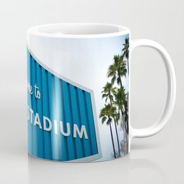 Welcome to Dodger Stadium | Los Angeles California Nostalgic Iconic Sign Art Print Tapestry Coffee Mug