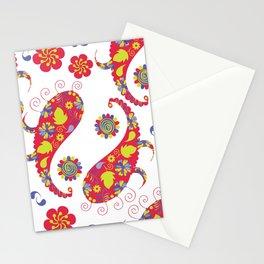 Paisley pattern #4D Stationery Cards